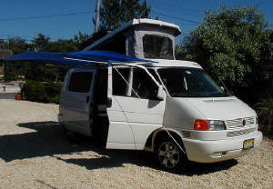 shady boy awning on a vw eurovan 062004 nj country homes campers