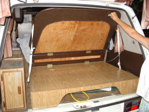 camper rear bed