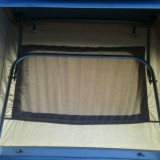 """2012 CHC Pop Top showing interior of """"H"""" Frame in open position"""