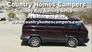 Country Homes Campers Shady Boy Awning Setup