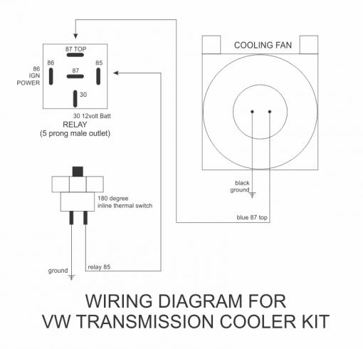 Wiring Diagram for VW Transmission Cooler Kit