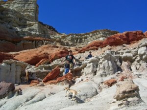 Climbing the red rocks of Red Rock Canyon