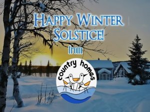 Happy Winter Solstice from Country Home Campers