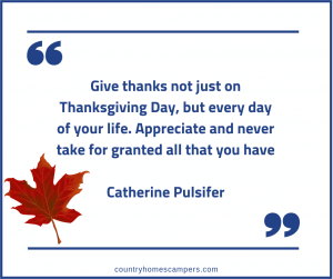 Thanksgiving quotation by Catherine Pulsifer
